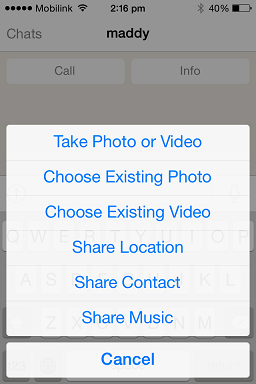 Send Music Files [WhatsApp]