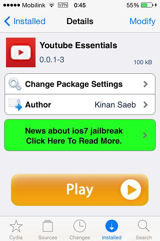 Youtube Essentials iOS Tweak