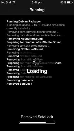 Removing...