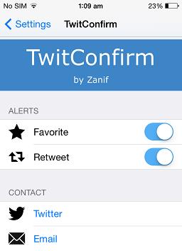 TwitConfirm
