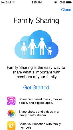 Family Sharing - iOS 8