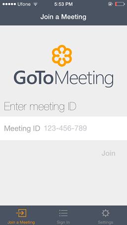 GoToMeeting iOS 8