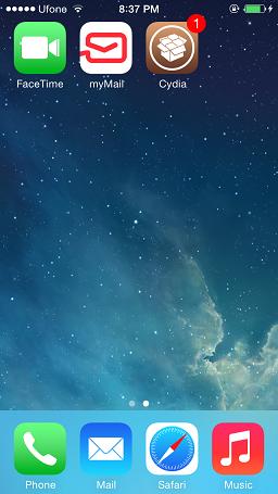 Jailbreak the Downgraded iOS 7.1.2 device with pangu