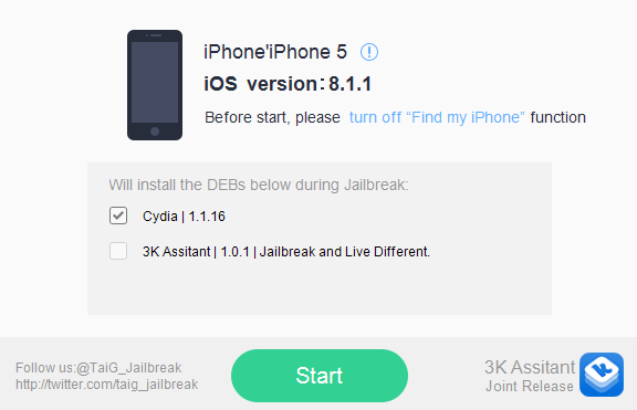 TaiG Jailbreak tool for iOS 8.1.1/8.1.2