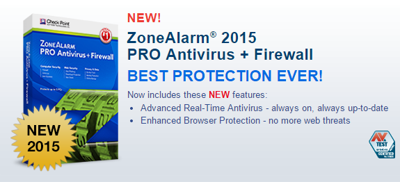 ZoneAlarm Antivirus 2015