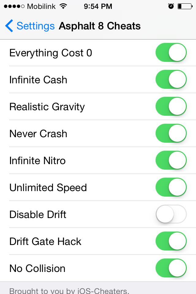 Enable hacks