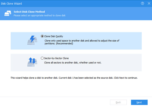 Disk Clone in AOMEI Partition Assistant